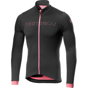 Castelli Fondo Full-Zip Jersey Men dark gray/giro pink